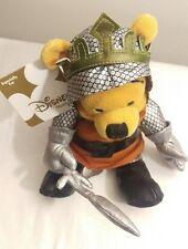 "Disney Store Winnie the Pooh King Arthur Knight Sward Plush 8"" Beanie Bag Toy"