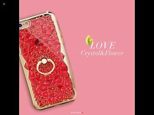 New 3D Diamond Crystal with Ring Jelly Case Cover For iPhone 7 Plus Pink
