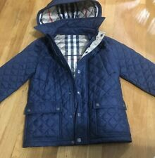 Burberry Children Boys Girls Navy Quilted Coat Jacket Size 10