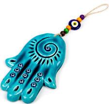 Hamsa Hand Good Luck Charm Evil Eye Protection Amulet Wall Hanging Decor