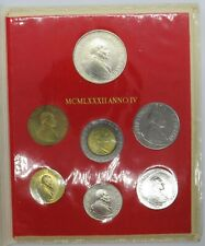 More details for 1982 vatican coin set includes silver 1000 lira