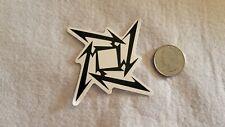 Black and White Geometric Square Sticker Decal
