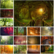 Summer Autumn Forest Scenery Background Cloth Photography Backdrop Props