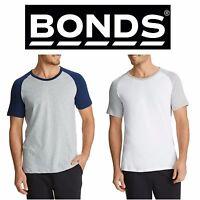 MENS BONDS BESTIES RAGLAN TEE Tshirt Crew Round Neck Short Sleeve Top AYGUI