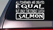"""Salmón Todos People Igual 6"""" Pegatina E606 Caña de Pescar Reel Línea Cebo Moscas"""