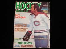 February 1975 Hockey World Magazine - Guy Lafleur Cover
