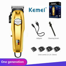 Kemei Men'S Metal Electric Hair Clipper Professional & Home Hair Trimmer Tool