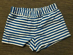 J Crew Factory Adult Womens 2 Printed Boardwalk Pull On Shorts Stripe A5331