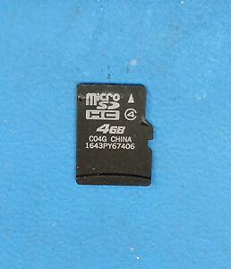 4GB 4G microSD microSDHC micro SD card SDHC flash memory card
