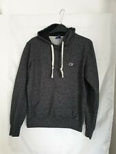 Mens Champion Authentic Hoodie Blue Marl Long Sleeve Size Small