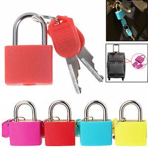 Padlocks 1/4/8/12Pcs Coloured Brass Padlock Travel Luggage Bag Keys Suitcase Set