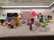 Vintage 1950's Miniature Dollhouse Furniture, Accessories, Toys Lot