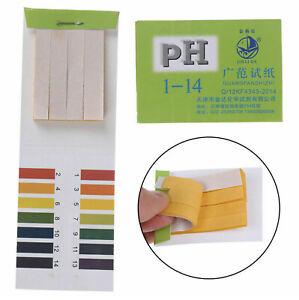 80pcs Full Range 1-14 pH Test Paper Strips Litmus Testing Indicator Universal UK