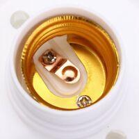 E27 Round Plastic Base Screw Light Bulb Lamp Socket Holder White C8B4