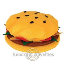Hamburger Hat Funny Silly Novelty Hat Costume Gag Gift