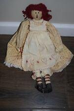"Vintage Cloth Rag Doll UNIQUE 18"" tall"