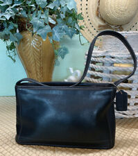 Vintage Coach Bleeker Black Leather Small Tote/Shoulder Bag~Very Good Condition