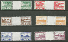 JERSEY 1943/4 KGVI VIEWS SET OF 6 SG3/8 IN INTERPANNEAU PAIRS UNMOUNTED MINT