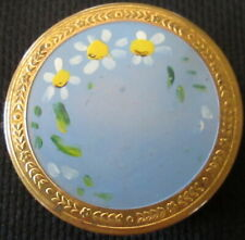 Vintage Pressed Powder Compact Hand Painted & Hinged Cover