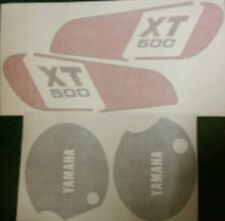 YAMAHA XT500E 1978 MODEL FULL PAINTWORK DECAL KIT