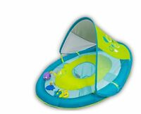 SwimWays Baby Spring Float Sun Canopy Includes 5 Tethered Toys And Reusable Carr