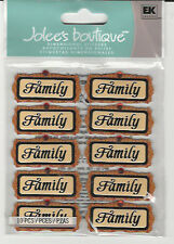 Jolee's FAMILY WORD REPEATS gems 3D Stickers