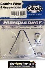 Original Arai Helmet fórmula conducto Set-Blanco-Quantum e, nr-3, nr-5, RV, fv-2
