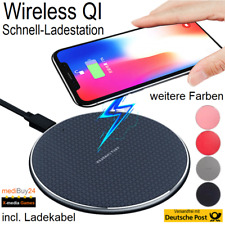 Wireless Qi Ladegerät Ladestation Induktive QI Charger Kabellos iPhone Samsung