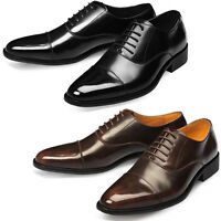 Mooda Mens Leather Oxfords Shoes Classic Formal Lace up Dress Shoes Aura