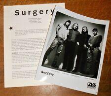 SURGERY Shimmer orig. Atlantic 1994 press kit w/ photo