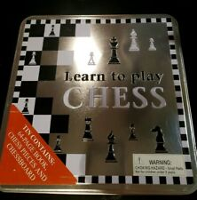 Learn to Play Chess (with book, Chess Board and Chessmen in Decorative Tin Box)