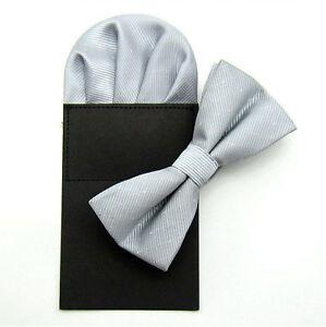Mens Shiny Glittery Polka Dots Wedding Party Bowtie Bow Tie Pocket Square Set