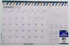 "2021 Desk Pad Calendar Striped 11""X17"", USA Seller!!!"
