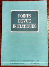 POINTS DE VUE INITIATIQUES – 4e trim..1976 . Numéro 22 .. Franc-maçonnerie
