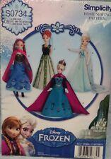 Simplicity pattern  S0734 Frozen doll dress Barbie  11 1/2  uncut