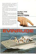 Evinrude sweet 16 starfire ad Lark 1964 motor button advertisement boat engine