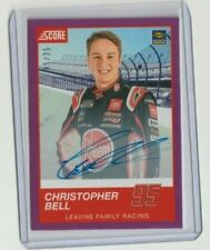 CHRISTOPHER BELL 2020 CHRONICLES SCORE RACING ROOKIE PURPLE AUTO CARD # 5/25