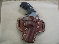 "Smith & Wesson S&W K/L Frame 6"" Leather 2 Slot Pancake Belt Holster CCW TAN RH"