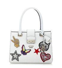 GUESS Elia Cross Body White Signature Satchel Bag Small Logo Handbag BNWT £150
