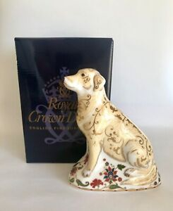 First Quality Royal Crown Derby National Dogs Collection FRENCH POODLE 1990 Paperweight English Bone China Spectacular Collectible