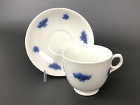 Antique Chelsea Grape ironstone cup & saucer, unmarked 1830's 1840's England
