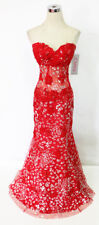 JOVANI RED 79108 Pageant Prom Formal Ball Gown 8 - $640 NWT