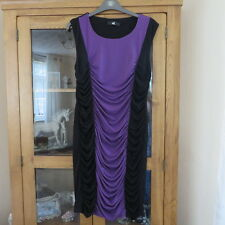 Oli, pencil style Black/purple rusched dress size 10 New