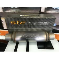 "2.75"" ID 4"" Round 14"" Satin Stainless Universal STC Exhaust Silencer LT414275"