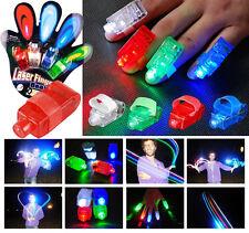 8 Anillos led de colores para fiestas láser dedo conciertos despedidas soltera
