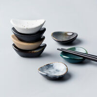 Japanische Keramik Barren Oval Essstäbchen Rest Löffel Ständer Halter Küche Deko