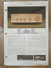LUXMAN OEM PRODUCT BROCHURE - CL-38 TUBE PRE-AMP AND ML-08 TRANSISTOR POWER AMP