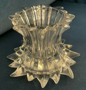 PartyLite  Aurora Lead Crystal Clear Candle Holder