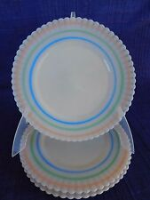 Petalware Macbeth Evans White Pastel Band SALAD PLATE (s) have more items*