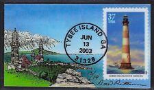 Southeastern Lighthouse, Morris Island South Carolina Sc.# 3789 First Day Magnet